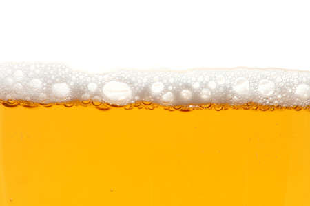 german food: glass of beer isolated on white background Stock Photo