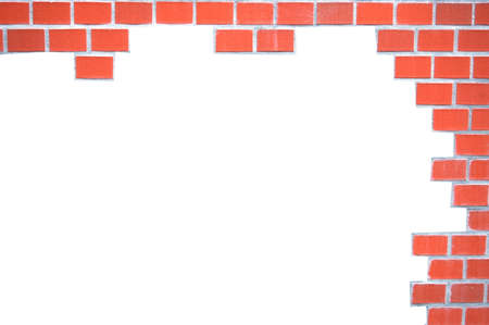 grunge brick wall frame with white space for text photo