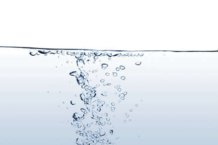 fresh and clean water with gas bubbles background photo