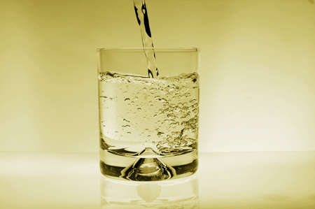 glass of water for refreshment in summer or at a party Stock Photo - 4437009