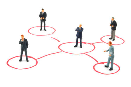 networking business people isolated on white background Stock Photo - 4490106
