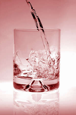 glass of water for refreshment in summer or at a party Stock Photo - 4490198