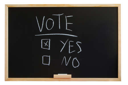 blackboard where you can vote yes or no Stock Photo - 4509286