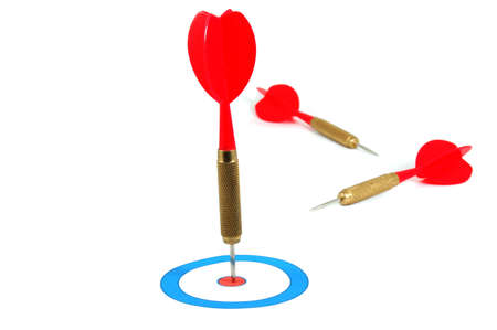 chellange: successful dart arrow hit the target or the objective or goal