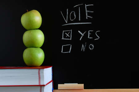 blackboard where you can vote yes or no Stock Photo - 4534540