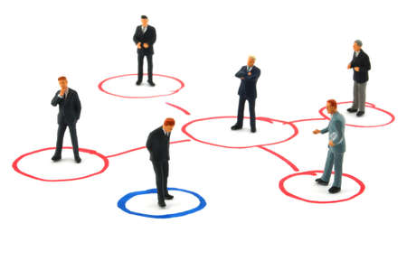 networking business people isolated on white background Stock Photo - 4534510