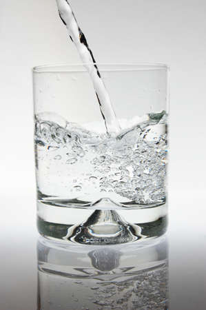 cocktail of water as a party drink or for refreshment photo