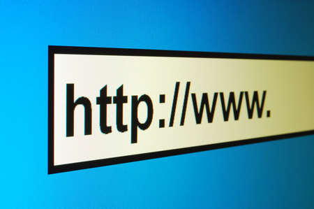 www internet browser showing a communication concept Stock Photo - 4583269