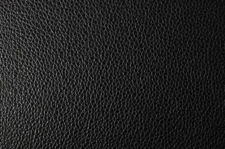 black leather: black leather texture can be used as background Stock Photo