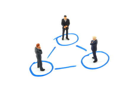 networking business people isolated on white background Stock Photo - 4583149