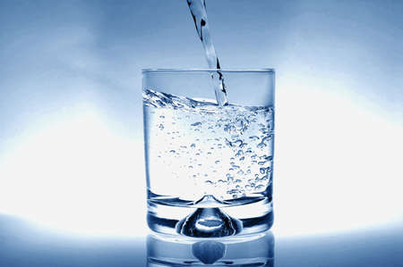glass of water for refreshment in summer or at a party Stock Photo - 4583233