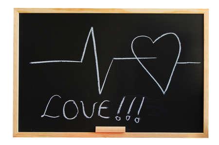 risky love: lavagna e il cuore di amore e di medico mostrando concetto
