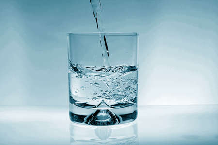 crystaline: glass of water for refreshment in summer or at a party