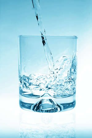 glass of water for refreshment in summer or at a party Stock Photo - 4599322