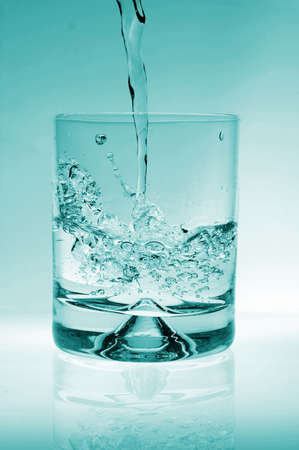 glass of water for refreshment in summer or at a party Stock Photo - 4606969
