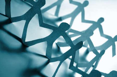 zusammenarbeit: Papier Leute, Teamarbeit in ihrem Unternehmen Lizenzfreie Bilder