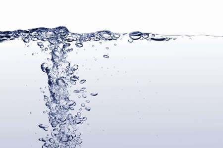 bubbles in water: fresh and clean water with gas bubbles background