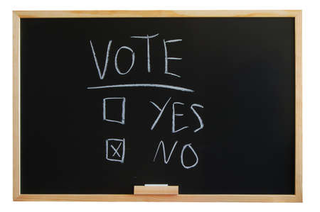 blackboard where you can vote yes or no Stock Photo - 4677718