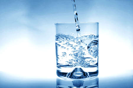 glass of water for refreshment in summer or at a party Stock Photo - 4692412