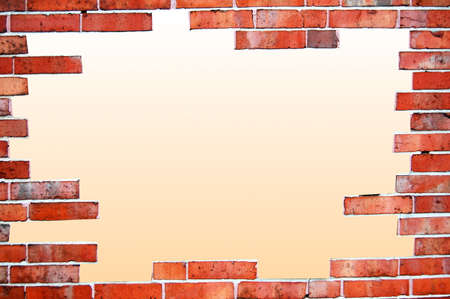 old brick wall frame with white text space photo