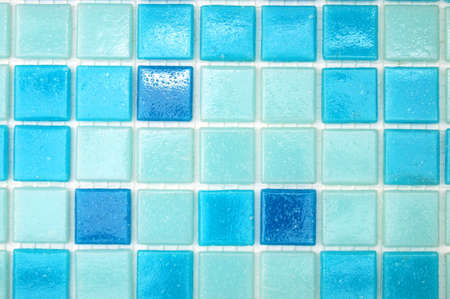 decore: mosaic of tiles in the bathroom as a background Stock Photo