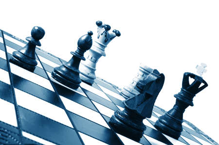 chess pieces showing concept for competition in business photo