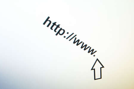 internet browser showing a www communication concept Stock Photo - 4755934