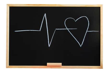 risky love: lavagna e il cuore che mostra l'amore e la nozione medica
