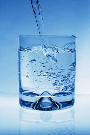 glass of water for refreshment in summer or at a party Stock Photo - 4755901