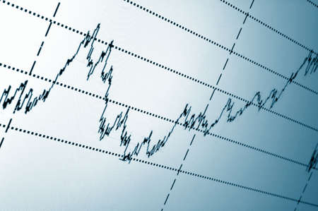 financial graph or stock chart on screen of a display Stock Photo - 4775439