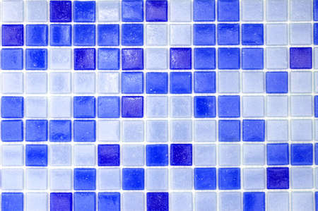 mosaic of tiles in the bathroom as a background Stock Photo