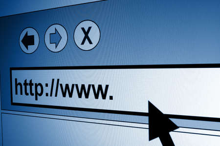 www internet browser showing a communication concept Stock Photo - 4804456