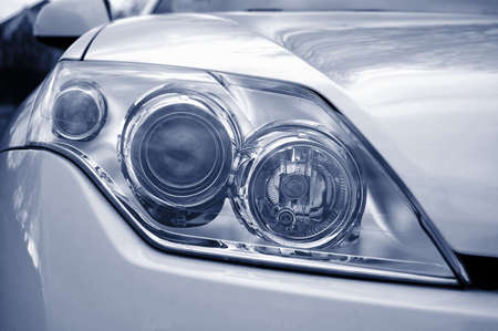 headlights: headlight of a new dynamic sports car