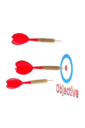 success concept with isolated successful dart arrow Stock Photo - 4839936
