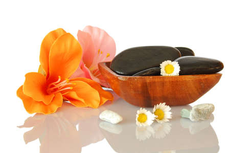 spa zen and wellness still life isolated on white background photo