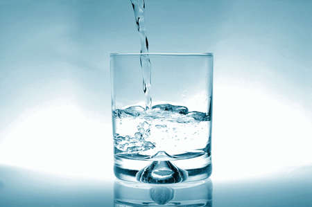 glass of water for refreshment in summer or at a party Stock Photo - 4861941