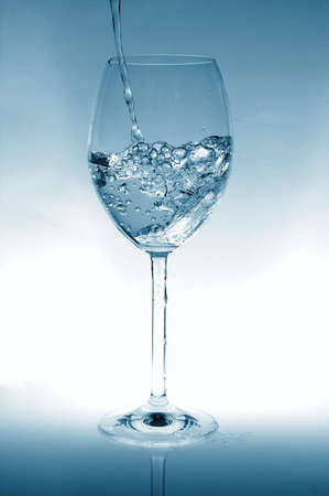 glas: cocktail of water as a party drink or for refreshment