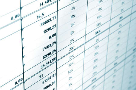 business data and statistics showing financial success Stock Photo - 4902782