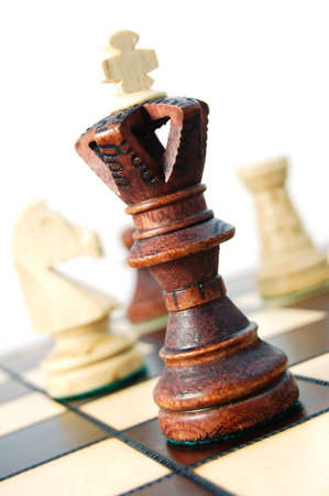 challange: chess pieces showing concept for competition in business Stock Photo