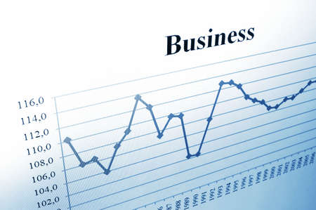 business data and chart showing financial success Stock Photo - 4960591