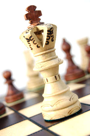 chess pieces showing concept for competition in business Stock Photo