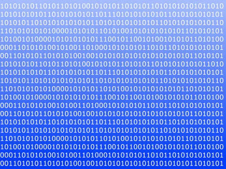 byte: binary computer data background with 1 and 0