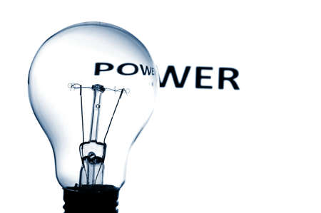 bulb showing concept for electric power and electricity Stock Photo - 4987113