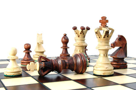 scacchi pezzi mostrando concetto di concorrenza nel mondo degli affari