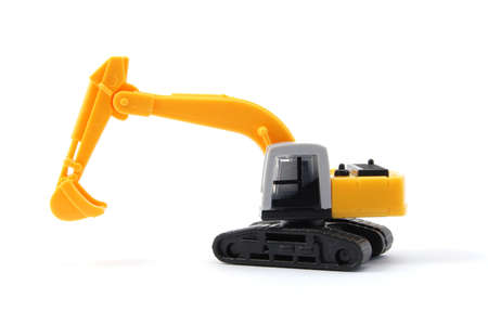 toy digger showing concept for construction company photo