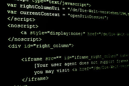 computer html code showing concept of internet and software programming Stock Photo - 4987214