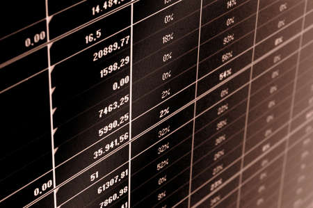 business data and statistics showing financial success Stock Photo - 5000581