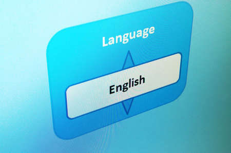 select english language on a internet website  photo