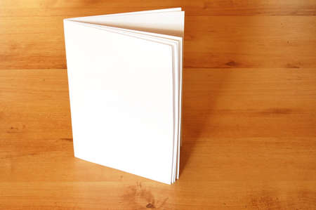 empty paper book or magazine with copyspace  photo