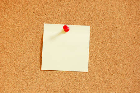 bulletinboard: blank and empty sheet of paper with copyspace for text message Stock Photo